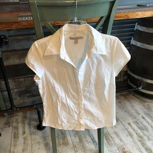 OLD NAVY BUTTON UP BLOUSE SIZE M USED.